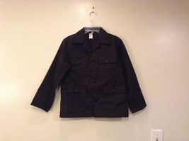 NEW with Tags Black Uniform Jacket Button Closure 4 Pockets on Front Size 16
