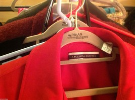 Amanda Smith Size 6 Red fitted suede jacket. image 3