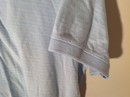 Light Blue with Stripes Short Sleeve Collared Timberland Casual Shirt Size L image 4