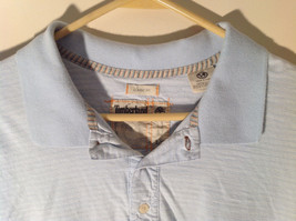 Light Blue with Stripes Short Sleeve Collared Timberland Casual Shirt Size L image 2