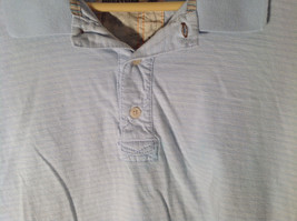 Light Blue with Stripes Short Sleeve Collared Timberland Casual Shirt Size L image 3