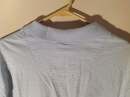 Light Blue with Stripes Short Sleeve Collared Timberland Casual Shirt Size L image 6