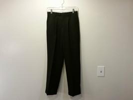 Nautica Black Pleated Front Dress Pants Side Pockets Back Pockets Size 14 Reg
