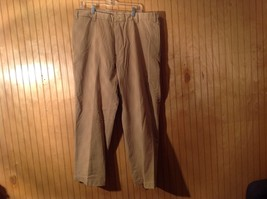 Nautica Tan 100 Percent Cotton Relax Fit Casual Pants Pockets Size 40W by 30L