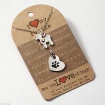 Poodle  Necklace w gold heart w charm for your dog's collar SET