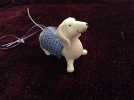 Porcelain Dachshund Figurine Cloth Shirt Wire Tail Different Colors Available