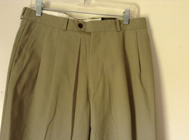 Light Brown Dress Pants by Chaps Ralph Lauren 100 Percent Wool Size 34 image 2