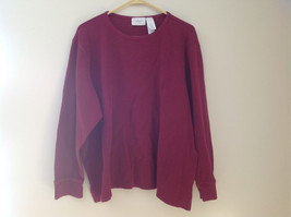 Pretty Liz Claiborne Red Long Sleeve Waffle Pullover Shirt Size 3X