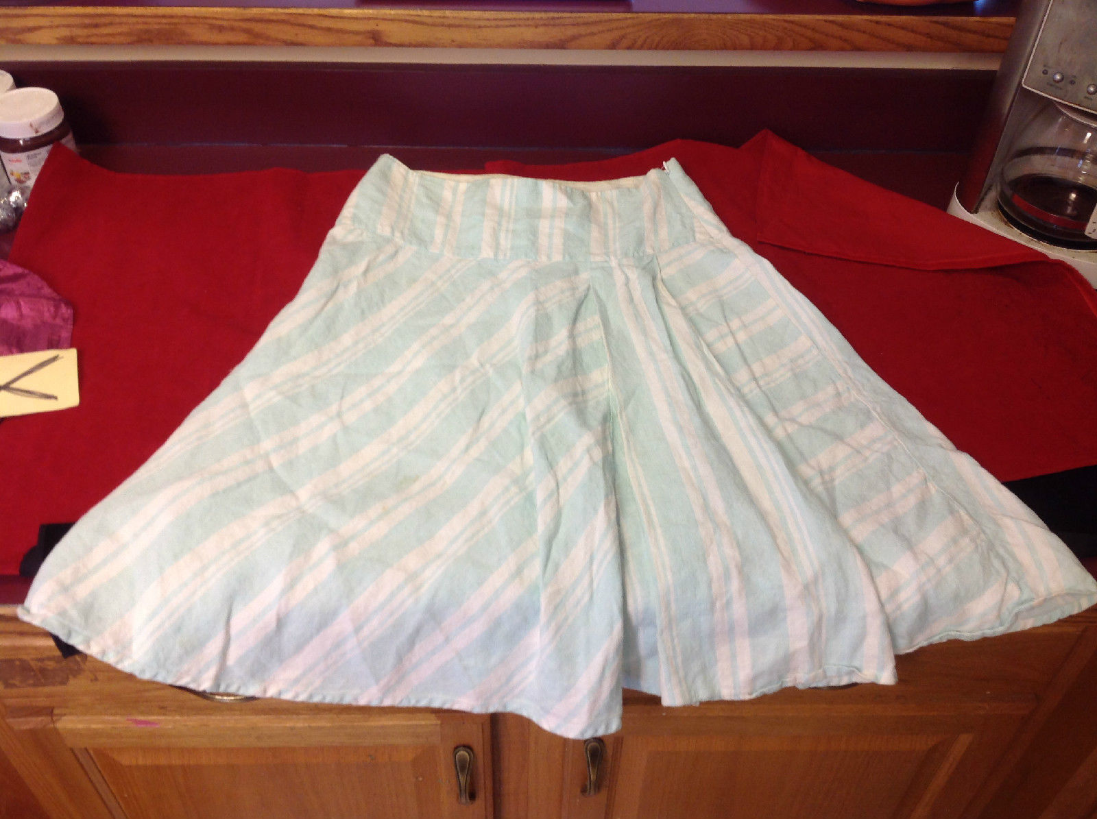 Pretty Light Blue Cream GAP Skirt Made in India Size 6