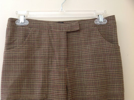 Light Brown Hounds Tooth Patterned Casual Pants 2 Pockets Armani Jeans Size 8 image 2