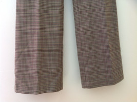 Light Brown Hounds Tooth Patterned Casual Pants 2 Pockets Armani Jeans Size 8 image 4