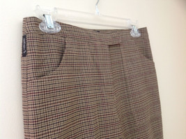 Light Brown Hounds Tooth Patterned Casual Pants 2 Pockets Armani Jeans Size 8 image 3