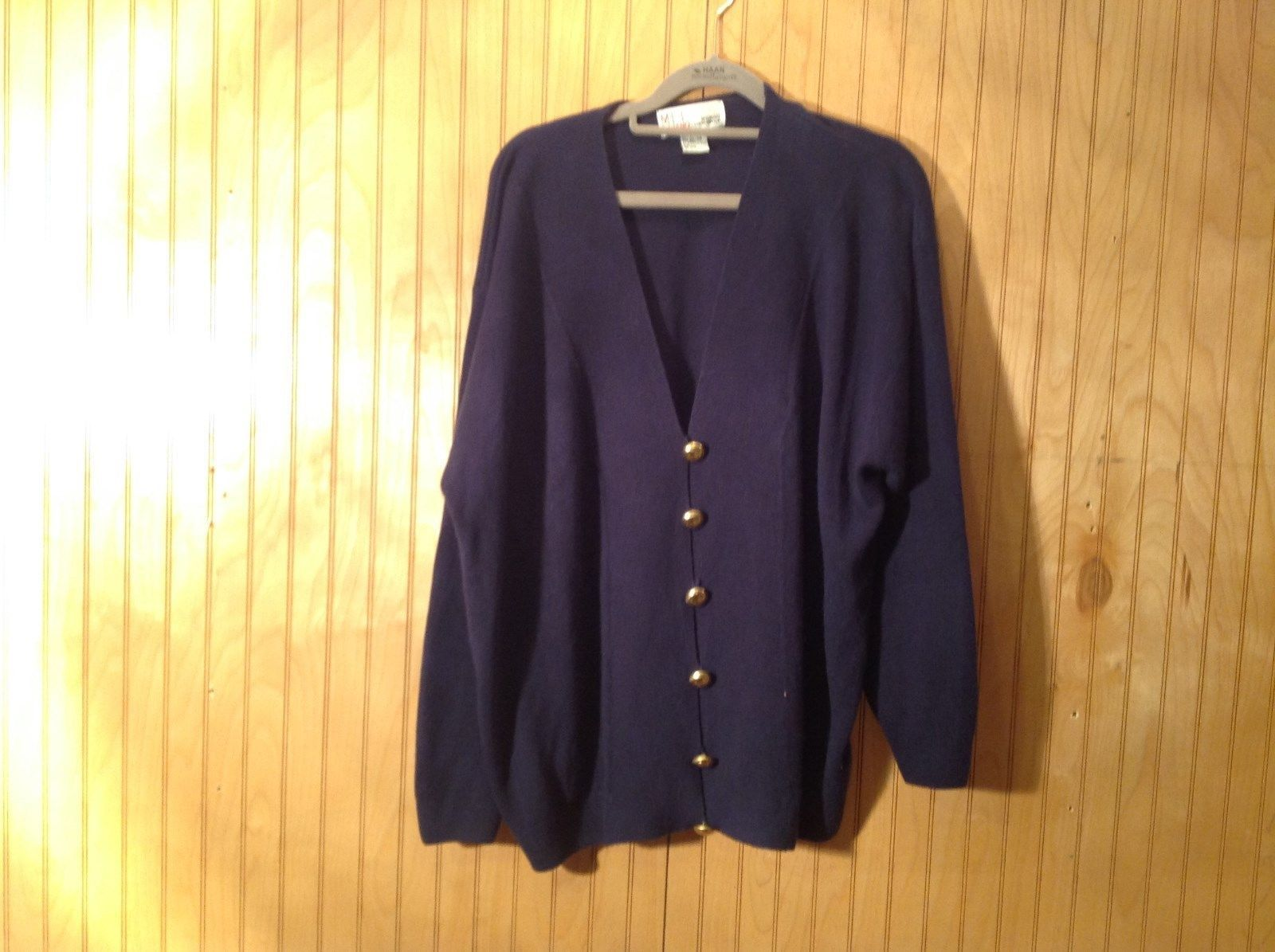 Navy Blue Cardigan Milano Women Design Group Size 22 to 24 Button Closure