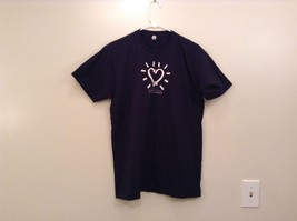 Navy Blue Short Sleeve Graphic T Shirt International Day of Compassion Size L - $24.74