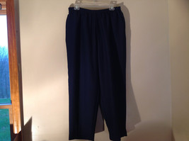 Navy Elastic Waistband Casual Pants by Alfred Dunner 2 Pockets Size 18W