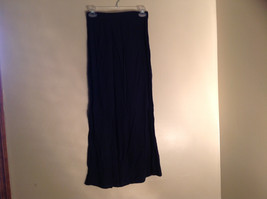 Navy Scrunched Style Maxi Skirt Cute Slit up Side of Front NY and Co Size S