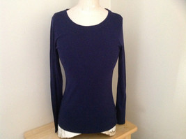 Navy Scoop Neck Long Sleeve Old Navy Shirt Made in Indonesia Size Medium