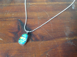 Necklace Dichroic Glass Pendant Silver Plated Chain Set in Sterling Silver image 1