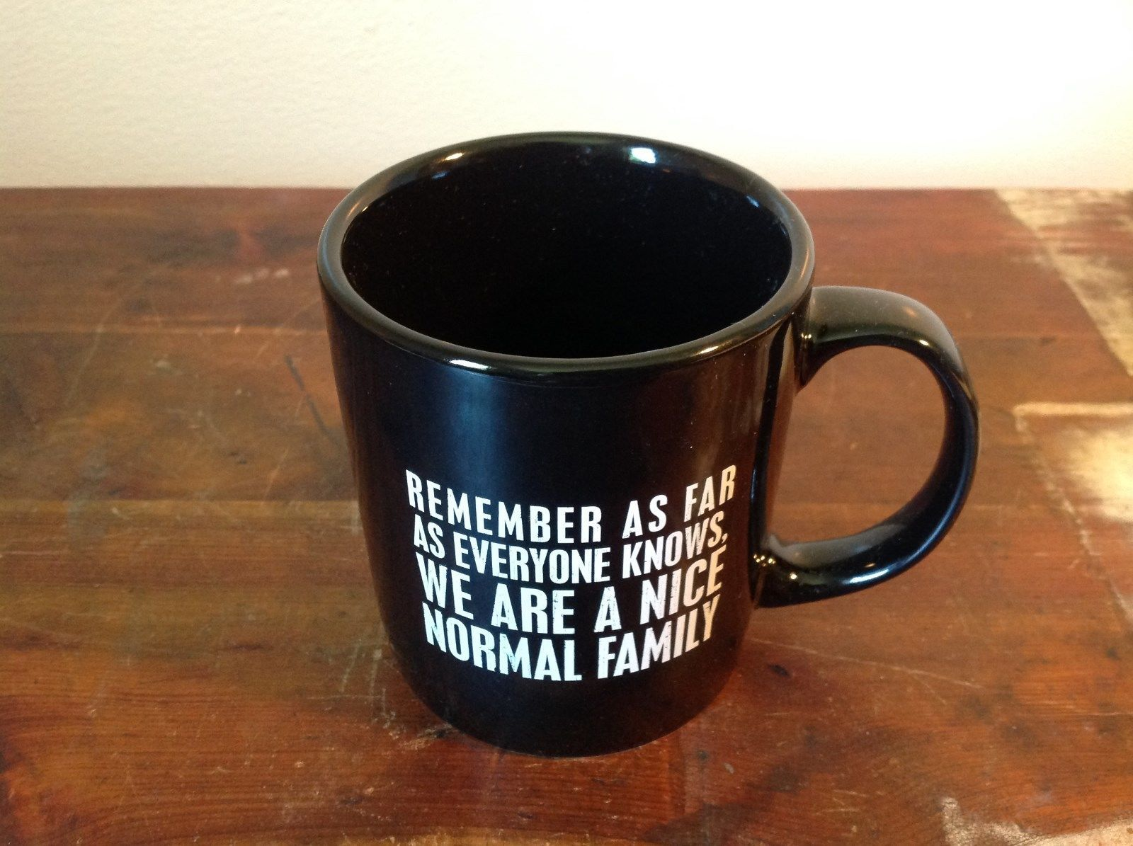 New Black Ceramic Comical Coffee Mug  Remember As Far As Everyone Knows