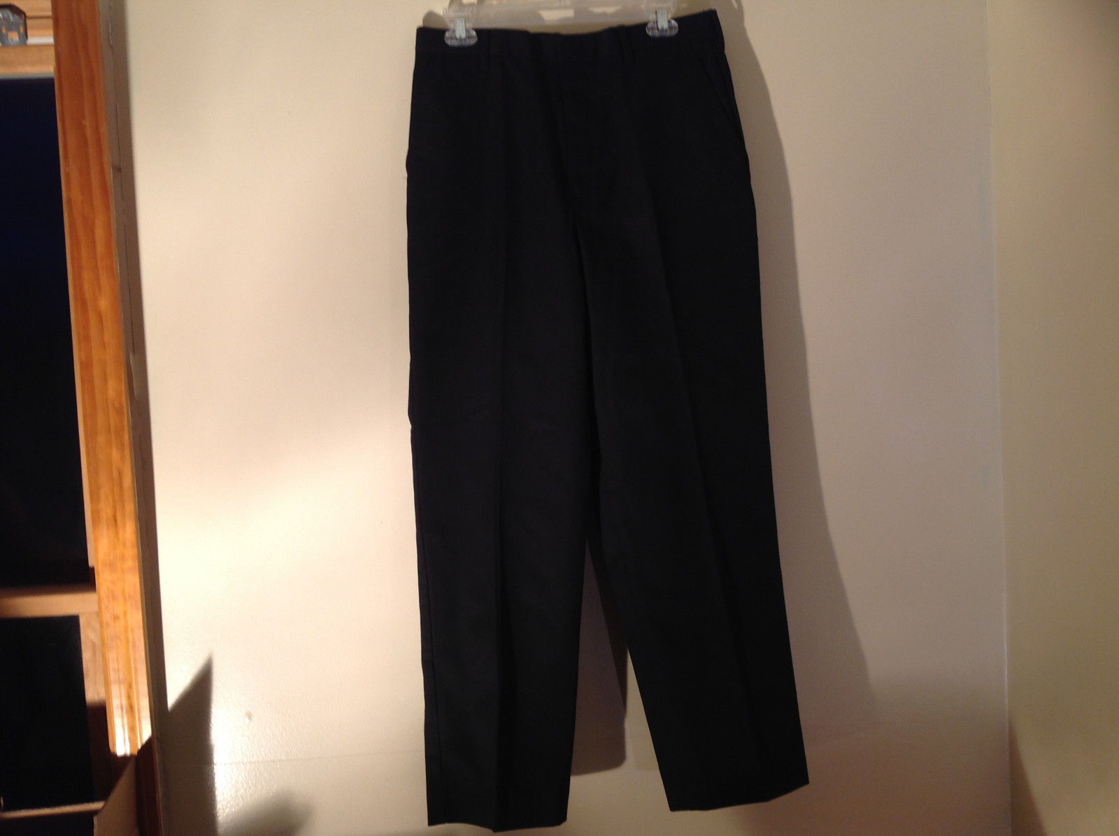 New Black Dress Pants By Edwards Tag Still Attached 4 Pockets Belt Loops Size 32