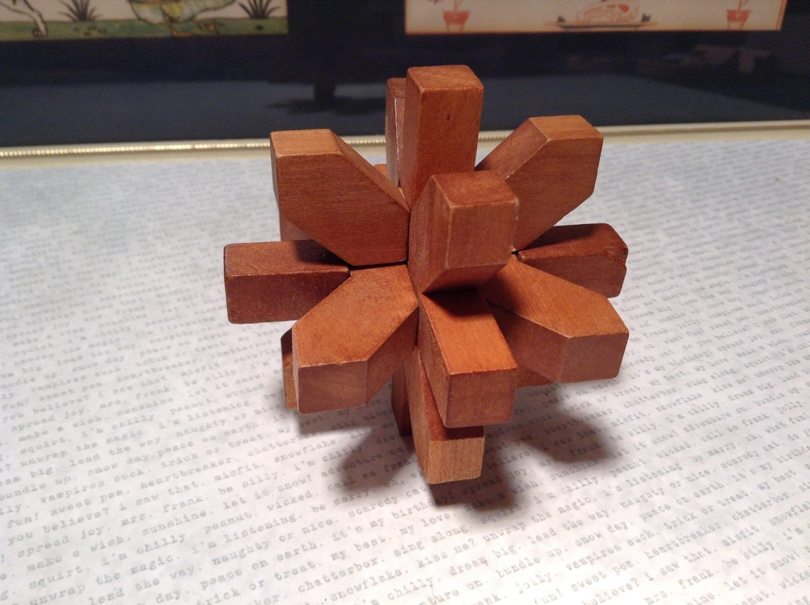New Mi Toys Geo Central Wooden 3 D Star Sharped Puzzle