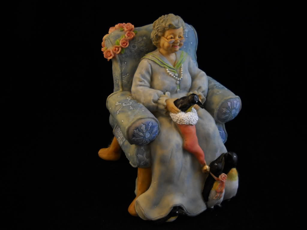 New Grand Mother Nature Figure by  Caldwell w penguins