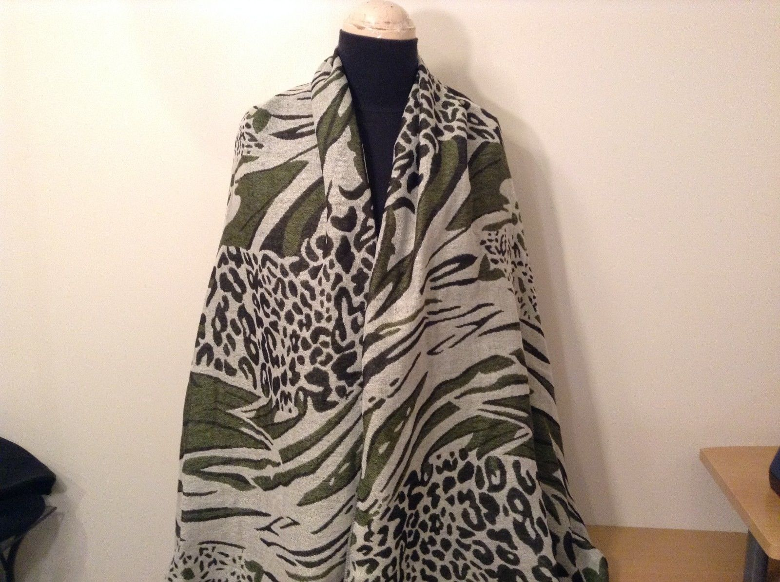 New Long Scarf Shawl w Leopard print  in choice of color