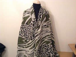 New Long Scarf Shawl w Leopard print  in choice of color image 1