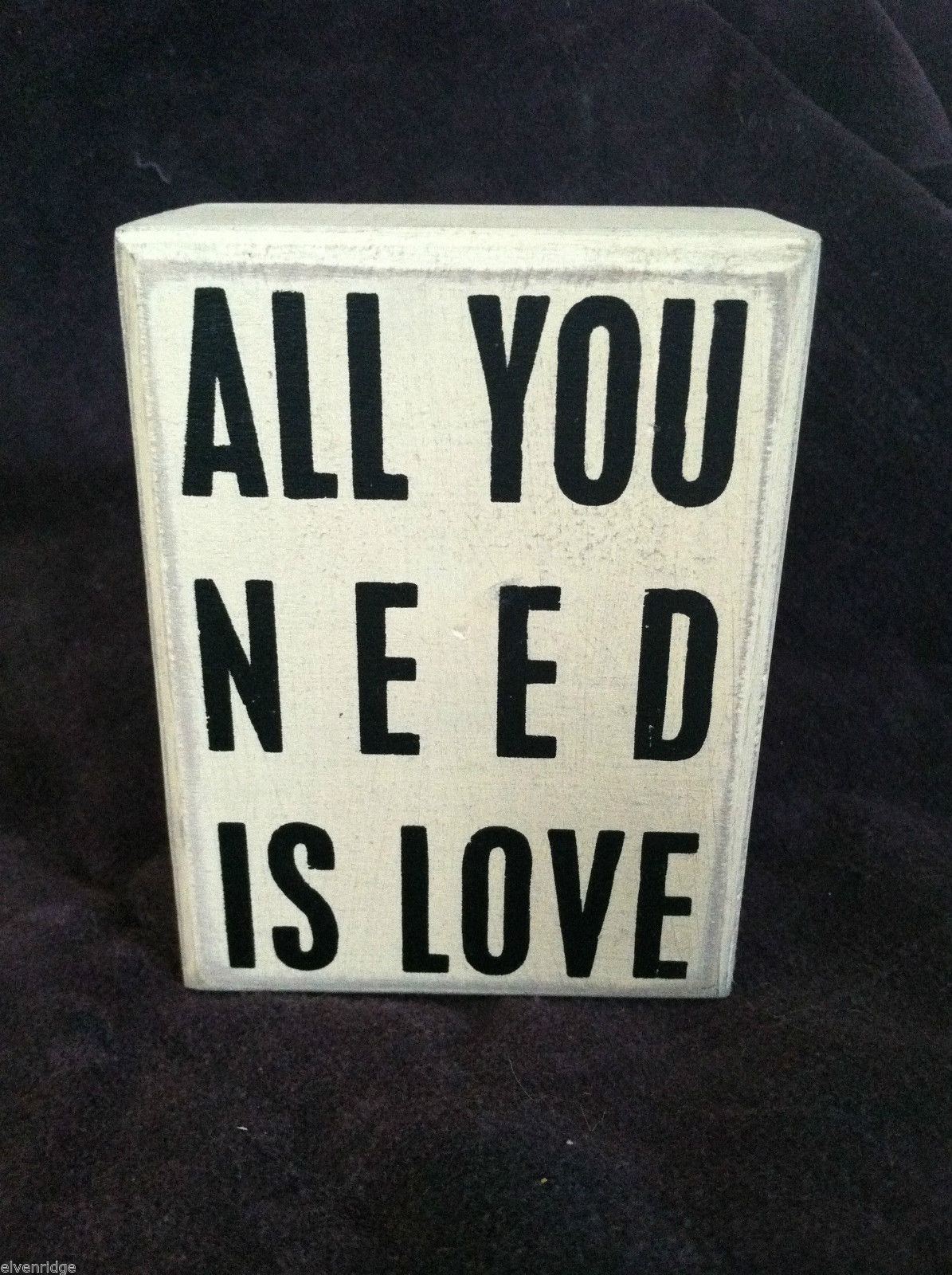 "New White Wooden Box Sign ""All You Need is Love"" Home Decor"