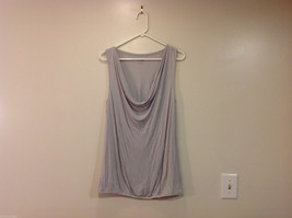 New York & Company Comfort Zone Silver Gray Sleeveless Blouse Top, Size L