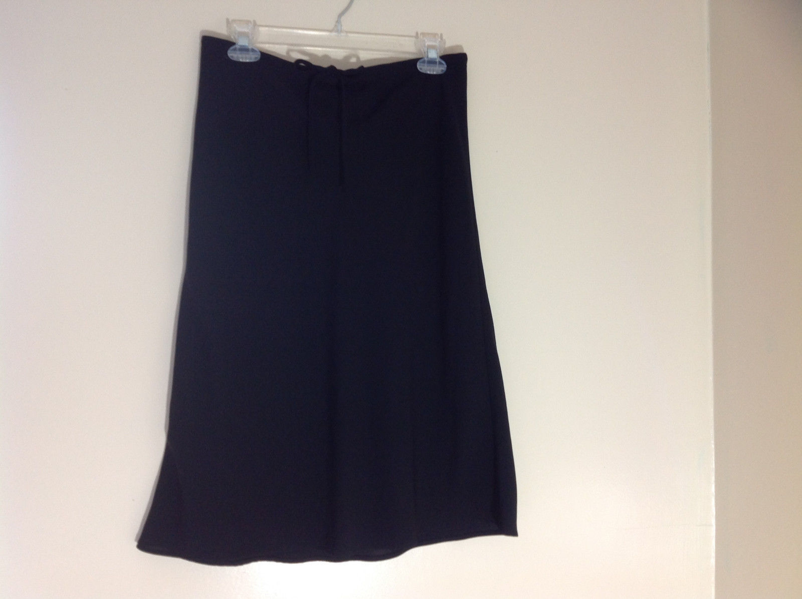 New York & Co. Black Medium Length Drawstring Skirt Size 10