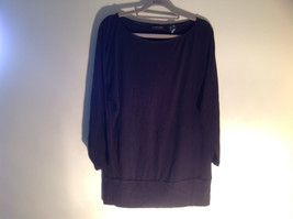 New York Company Long Sleeve Black Scooped Neckline Stretchy Size Medium image 1