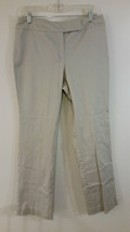 New York and Company Flat Front White Casual Pants  Size 10 Average