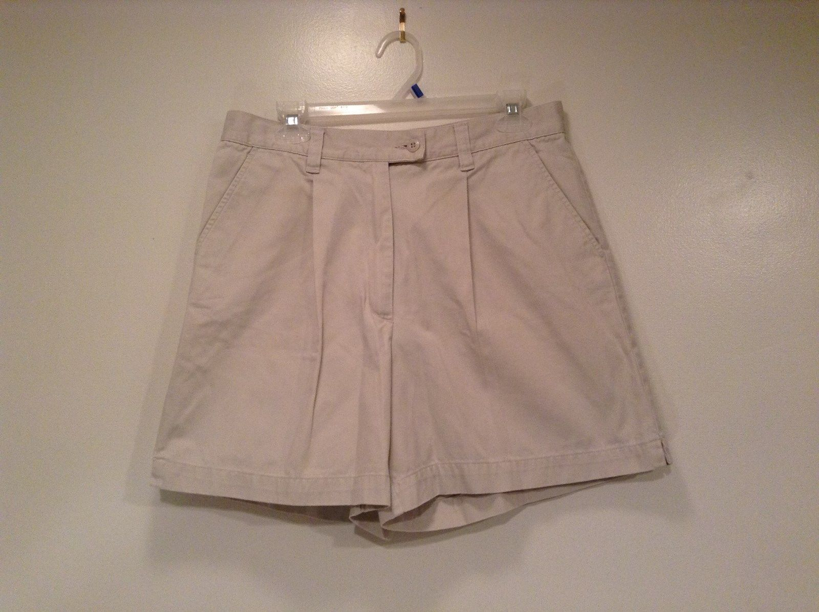 New York and Company NY Khakis 100% Cotton Light Tan Casual Shorts Size 12