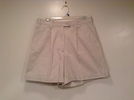 New York and Company NY Khakis 100% Cotton Light Tan Casual Shorts Size 12 image 1