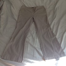New York and Company Tan Casual Pants Size 12 Average Five Pockets