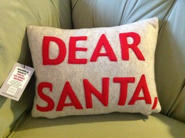 New fun pillow DEAR SANTA Made in USA  by Alexandra Ferguson