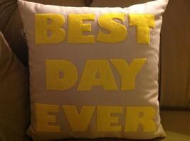 New fun throw pillow Best Day Ever Made in USA  by Alexandra Ferguson