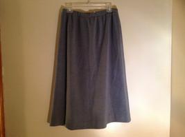 Light Gray Skirt Suit Jacket Open Front 2 Pockets Skirt Elastic Waist Size 14 image 7