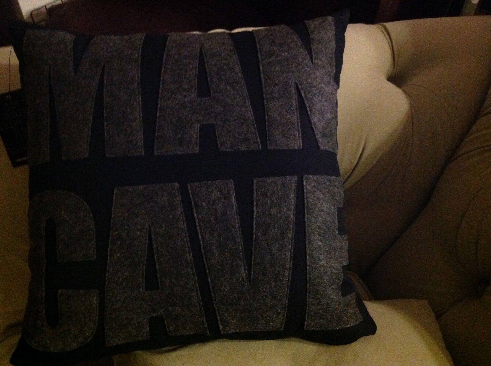 New fun throw pillow  Made in USA  MAN CAVE  by Alexandra Ferguson