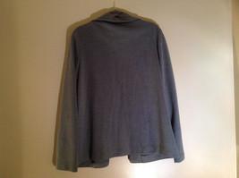 Light Gray Skirt Suit Jacket Open Front 2 Pockets Skirt Elastic Waist Size 14 image 5