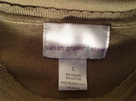 Light Green Short Sleeve Susan Graver Soft Stretchy Top Size Large image 11