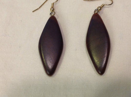 New w tags natural dark wood grained earrings Ukraine