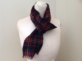 Nice Black Red Green Plaid Cashmere and Wool Scarf Simpson Piccadilly image 1