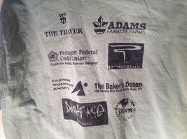 Light Green Jerzees Short Sleeve Graphic T-Shirt Sponsor USMA 5K 10K Size Large image 5