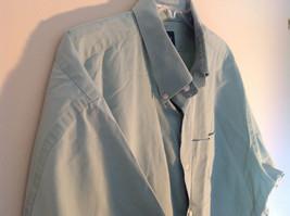 Light Green Button Down Short Sleeve Casual Shirt Hunt Club Collar Size XXL image 6