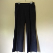 Nicole Miller New York Dark Gray Dress Pants Size 8 Zipper and Clasp Closure