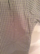 Light Green Blue Checked Button Up Long Sleeve Cotton Shirt Nautica Size Large image 7