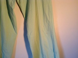 Light Green Comfortable Capri Pants by Green Source Elastic Waist No Size Tag image 2