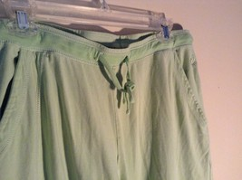 Light Green Comfortable Capri Pants by Green Source Elastic Waist No Size Tag image 5